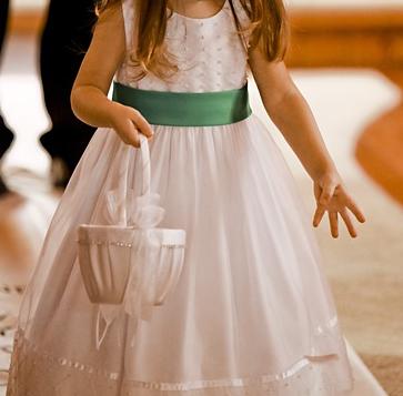 Ein schönes Blumenmädchen Kleid